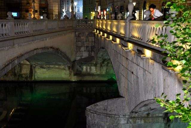 liczne mosty nad rz. Lublana