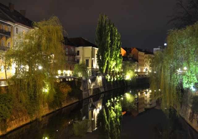 Ljubljana nocą