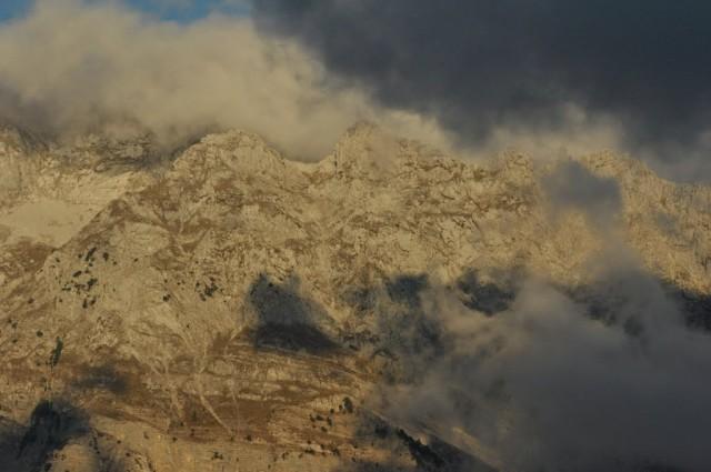 Mt. Jezerces gdzieś w chmurach