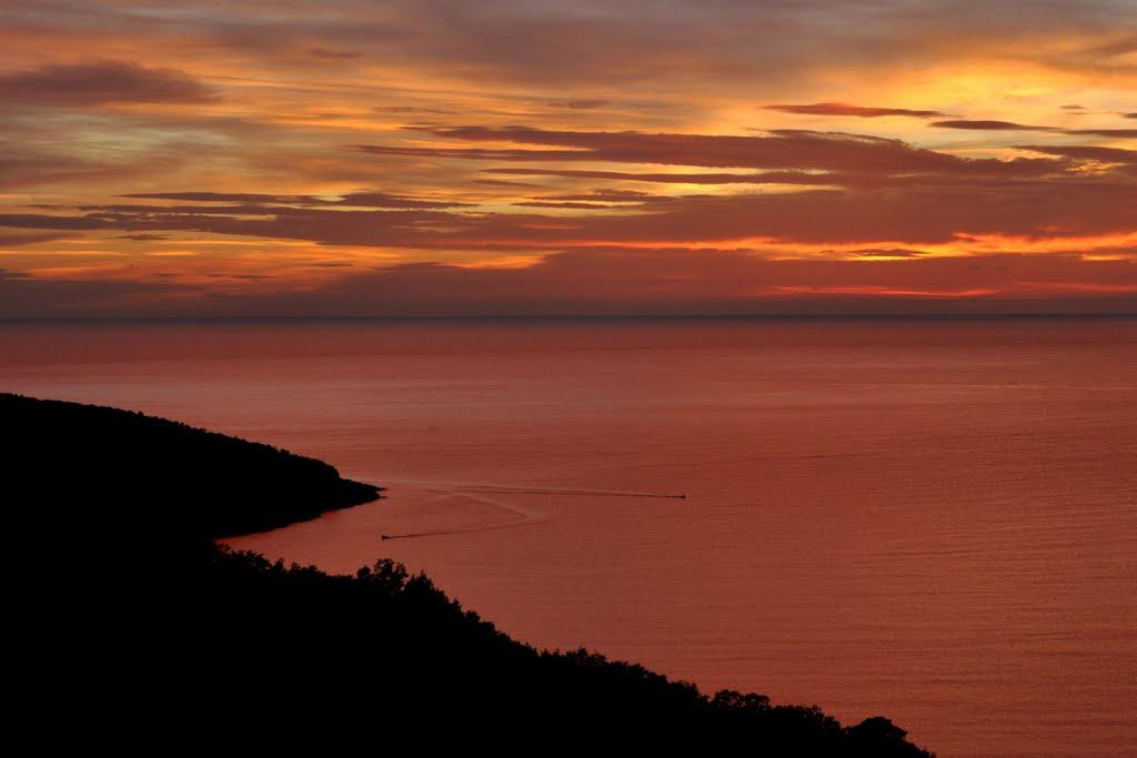 Zachód słońca nad Adriatykiem