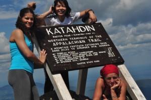 Na szczycie Mt. Katahdin (1606 m n.p.m.)