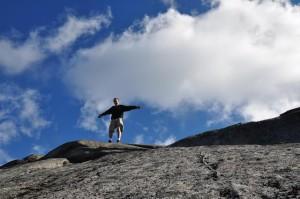 Na szczycie Mt. Giant (1410 m n.p.m.)